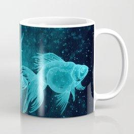 Goldfishes at night Coffee Mug