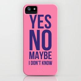 Decisions iPhone Case