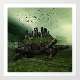 Druid Golf Art Print