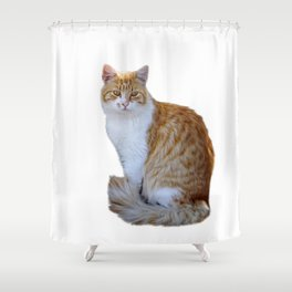 red cat Shower Curtain