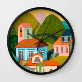 Tropic City Scape Wall Clock