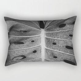 Botanical Leaf (Black and White) Rectangular Pillow