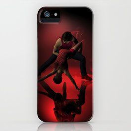 Two Jazz Dancers in Red iPhone Case
