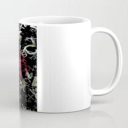 Red Rose Edges Letters 1 Coffee Mug