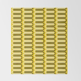 Geometric Pattern 235 (yellow curves) Throw Blanket