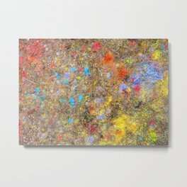 Aftermath of a Color Explosion Metal Print