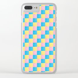 Colorful square pattern Clear iPhone Case