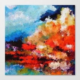 Promenade in autumn Canvas Print