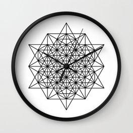 Star tetrahedron, sacred geometry, void theory Wall Clock
