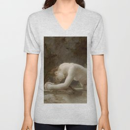 BIBLIS - WILLIAM-ADOLPHE BOUGUEREAU Unisex V-Neck