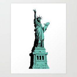 Skate Liberty Art Print