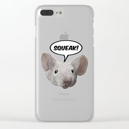 Squeak mouse Clear iPhone Case
