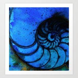 Nautilus Shell No. 987 by Kathy Morton Stanion Art Print