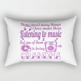 Listening To Music Grandma Rectangular Pillow