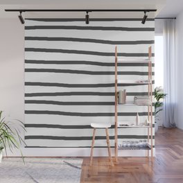 Simply Drawn Stripes in Simply Gray Wall Mural