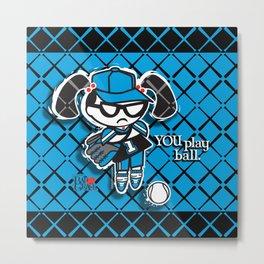 BAD GRACE: Play Ball Metal Print