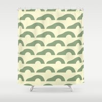 avocado Shower Curtains featuring Avocado by Kay Wolfersperger