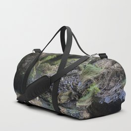 Moss Covered Cliff Face Duffle Bag