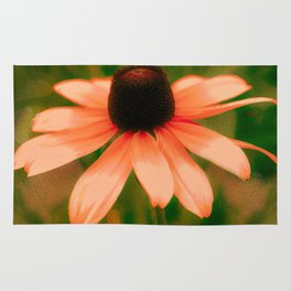 Vibrant Orange Coneflower Rug