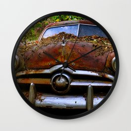 Sunlight on Old Car Wall Clock