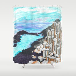 The Giants Causeway Shower Curtain