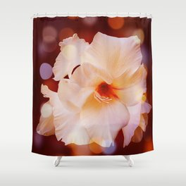 Sword Lily Red Bokeh Shower Curtain