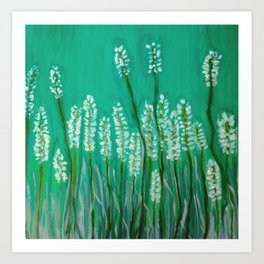 Springtime -green Art Print