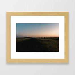Dusk in Merced Framed Art Print