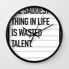 My Bronx Tale Movie Quote poster Wall Clock