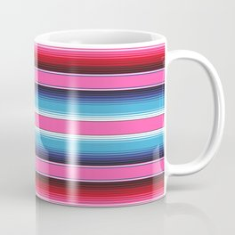 Pink Green Blue Mexican Serape Blanket Stripes Coffee Mug