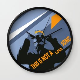 Eighties mood, it's not a love song! Wall Clock