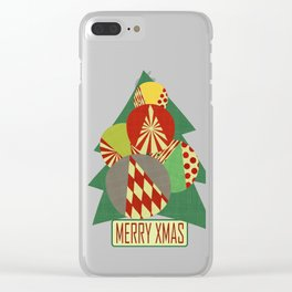 Christmas tree Minimalist green Clear iPhone Case