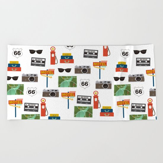 Travel Collage Beach Towel