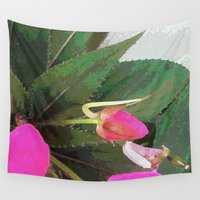 hot pink Wall Tapestries featuring Hot Pink by Glenn Designs