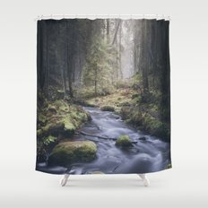 Silent whispers Shower Curtain