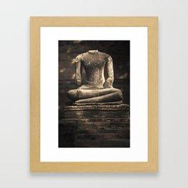 Beheaded Bhudda Framed Art Print