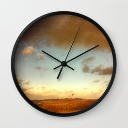 red country Wall Clock