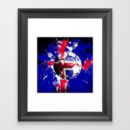 football Iceland Framed Art Print