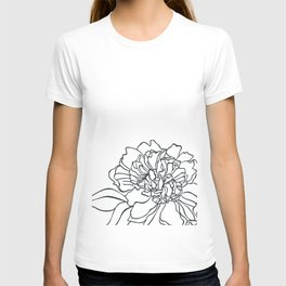 Paper-cut Peony T-shirt