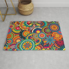Funky Retro Pattern Rug