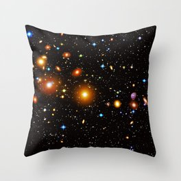Galaxies, nebulas, planets, and stars in the universe Throw Pillow