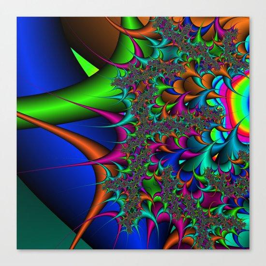 Rainbow Thorns fractal Canvas Print