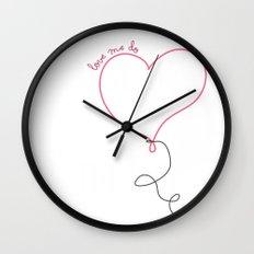 Love Me Do Wall Clock