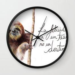 Paresseux Wall Clock