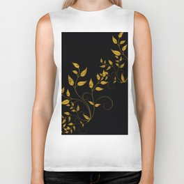TREES VINES AND LEAVES OF GOLD Biker Tank