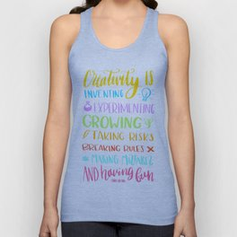 creativity is Unisex Tank Top