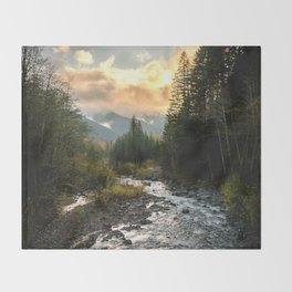 The Sandy River I - nature photography Throw Blanket