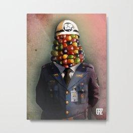CHAPA CHOCLO (policemen) Metal Print