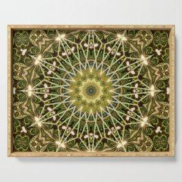 Geometric Forest Mandala Serving Tray