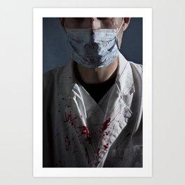 evil doctor Art Print